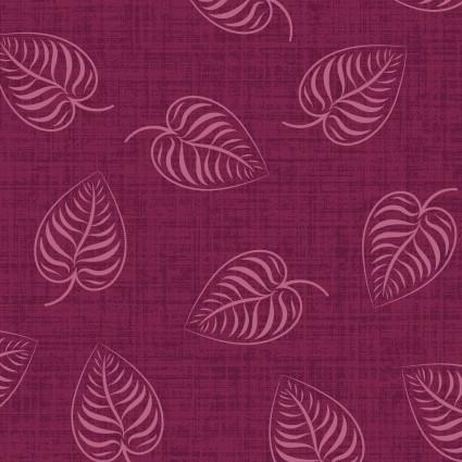 Flower & Vine Magenta Leaves