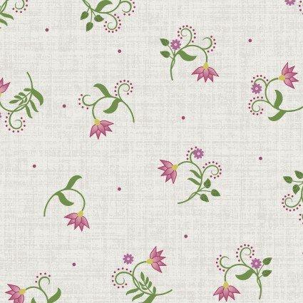 Flower & Vine Toss Floral Cream