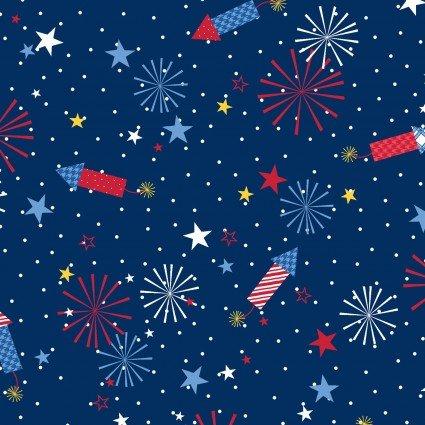 Fireworks (Navy) - Red, White & Bloom