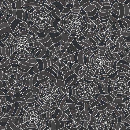 Hometown Halloween Charcoal Spooky Webs