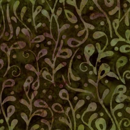 Java Batiks Green Vine