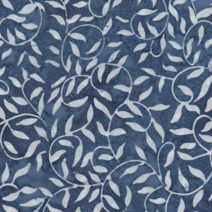 Color Therapy Batiks - Navy Scroll