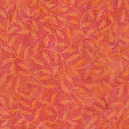 Color Therapy Batiks - Orange Scroll