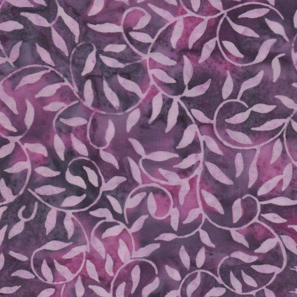 Color Therapy Batiks - Violet Scroll