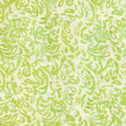 Color Therapy Batiks - Green Scroll
