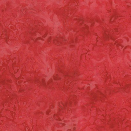 Color Therapy Batiks - Red Scroll