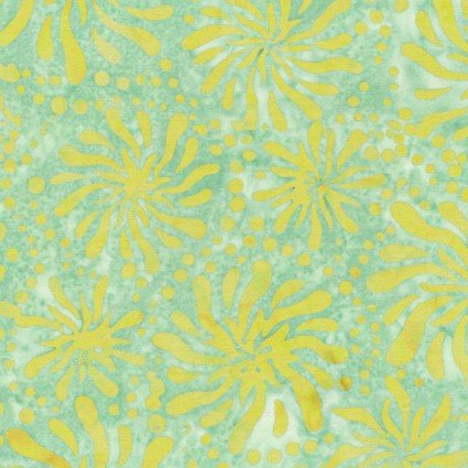 Color Therapy Batiks - Green Mums