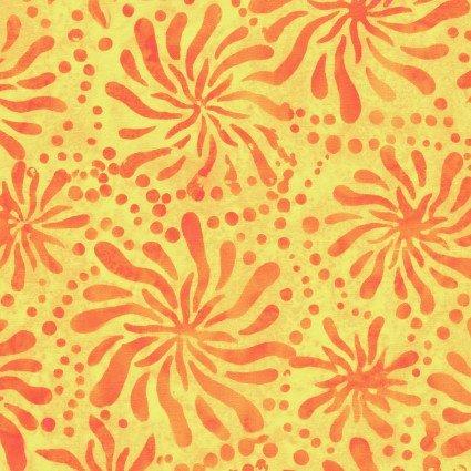 Color Therapy Batiks - Orange Mums