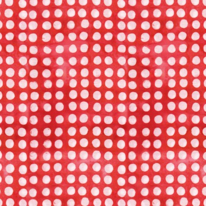 Color Therapy Batiks - Red Dot