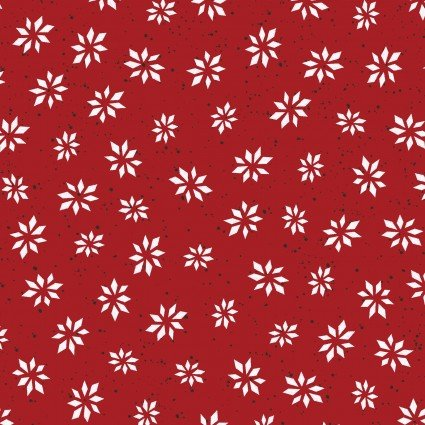 Maywood Studio Warm Wishes MASD6316-R Snowflake Star Red Digital Print