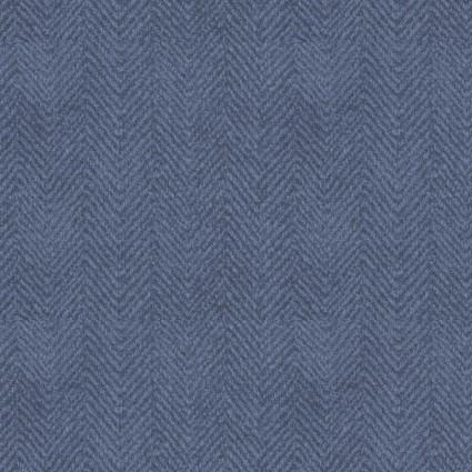 Woolies Flannel Blue Herringbone