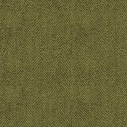 Woolies Flannel : Green Herringbone - #MASF1841-G - Bonnie Sullivan