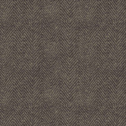 Woolies Flannel - Houndstooth - Black/Brown - Maywood Studio