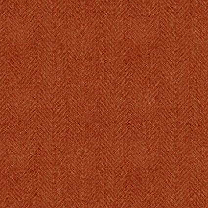 Woolies Flannel Herringbone Orange (FL10661)