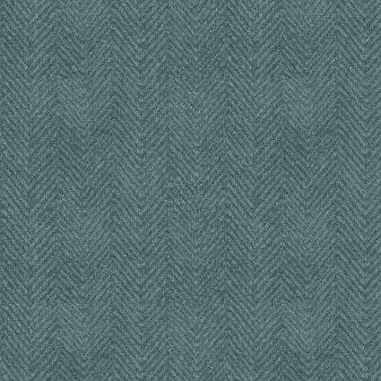 Woolies Flannel wedgewood blue herringbone