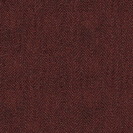 Woolies Flannel Herringbone Red (FL10656)