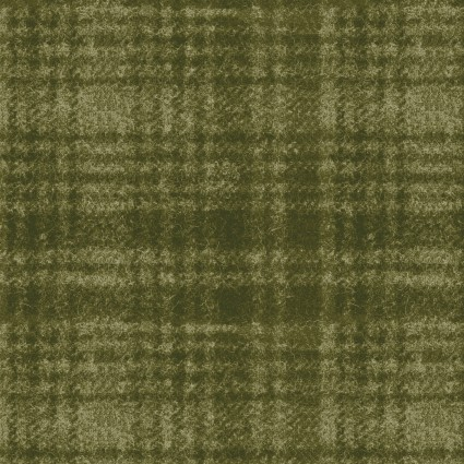 Woolies Flannel Green Windowpane
