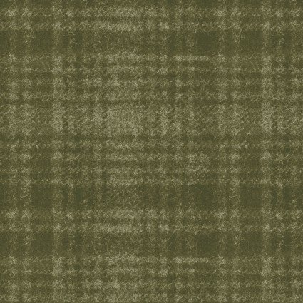 Woolies Flannel Olive Green Plaid