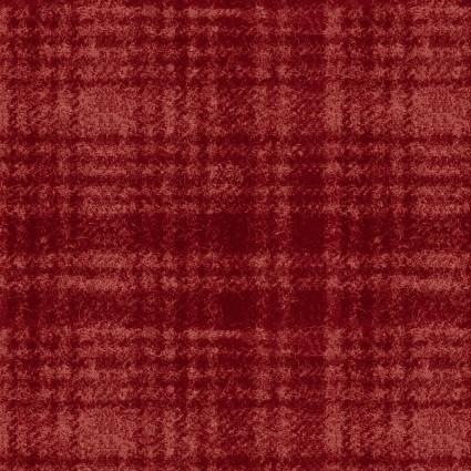 Woolies Flannel Classic Windowpane Red (FL10665)