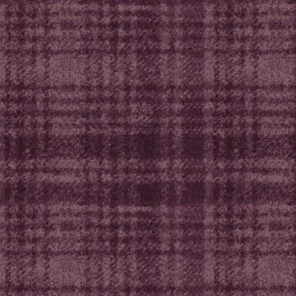 Woolies Flannel Violet Windowpane plaid