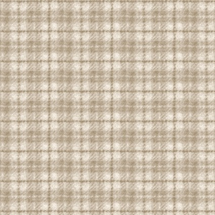 Woolies Flannel - Plaid - Cream -  Maywood Studios