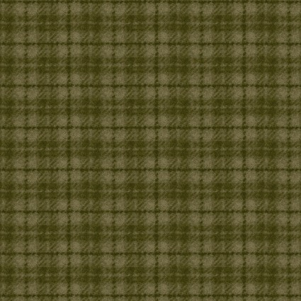 May Woolies Flannel - Green Plaid