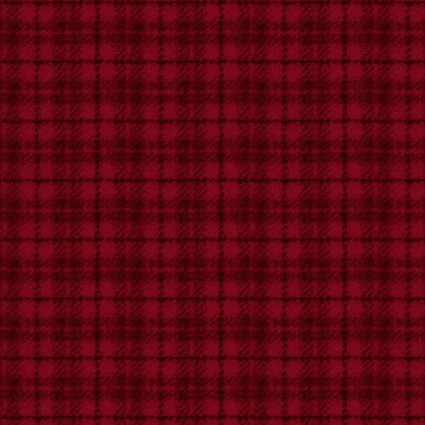 May Woolies Flannel - Red Plaid
