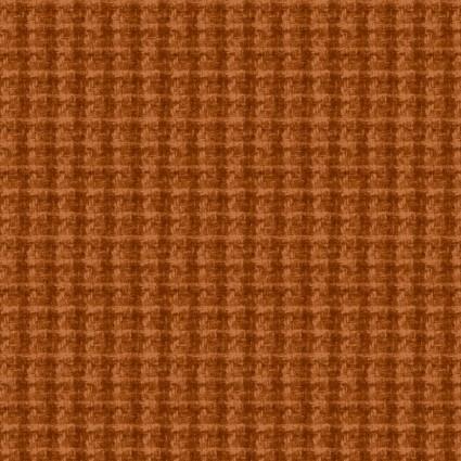 Woolies Flannel Orange houndstooth