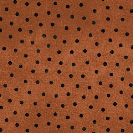 Woolies Flannel orange dots