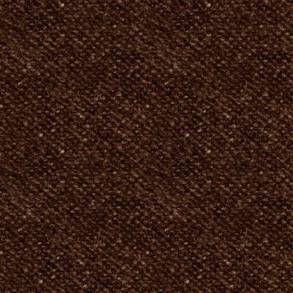 Woolies Flannel - Nubby Tweed - Deep Brown - Maywood Studio