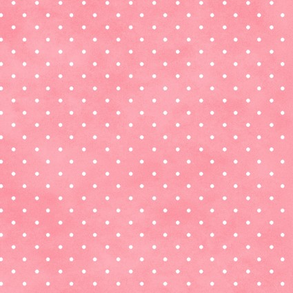 Wild Rose Flannel Pink Dots