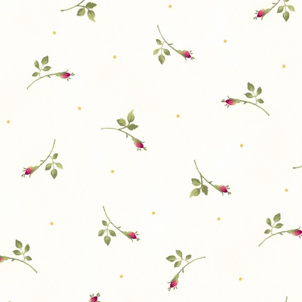 Wild Rose Flannel - MASF7887-W