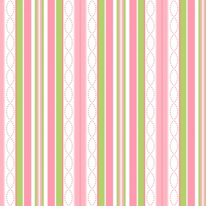 Sweet Pea Flannel, pink stripe