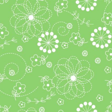 Green Flannel Doodles