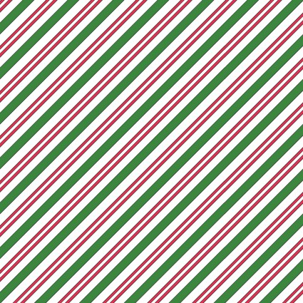 Candy Cane stripe, Christmas Joys Flannel