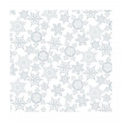 Christmas Joys-blue snowflakes Flannel
