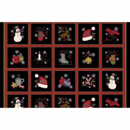 Black Mose Wonderful Squares Panel