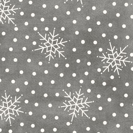 Maywood Studio Most Wonderful Time Grey w/snowflake Flannel