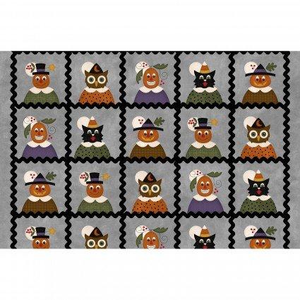 Maywood - Happy Jacks & Friends FLANNEL Panel Blocks/Yardage - 9400-K