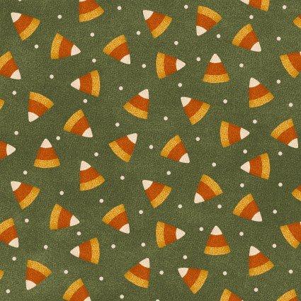 Maywood - Happy Jacks & Friends FLANNEL-Candy Corn/Green - 9402-G