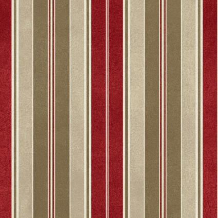 Heritage Woolies Flannel: Awning Stripe - Red/Tan
