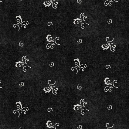 Heritage Woolies Flannel: Little Fancy - Black