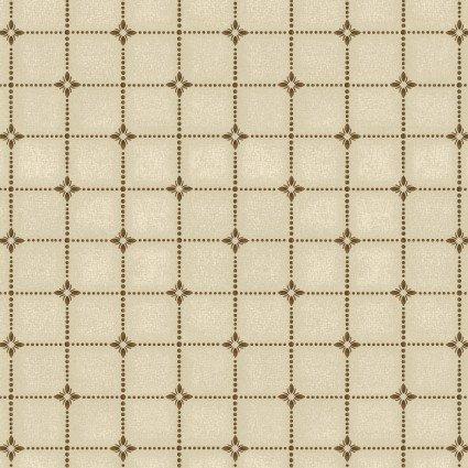Heritage Woolies Flannel: Shirting Plaid - Cream/Brown