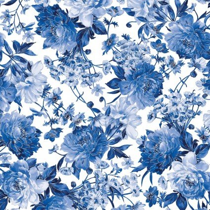 Silver Jubilee Metallic -- Main Floral