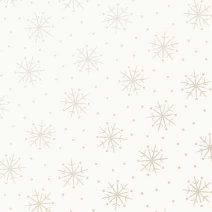 Pearl Essence Simple Snowflakes Soft White