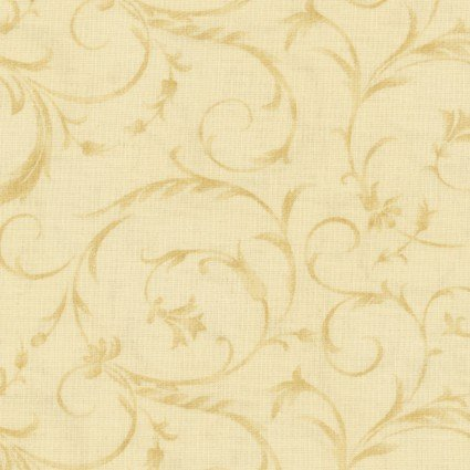 Beautiful Backing Elegant Scroll Sweet Cream 108