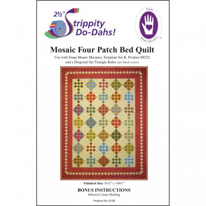 Mosaic Four Patch Bed Quilt