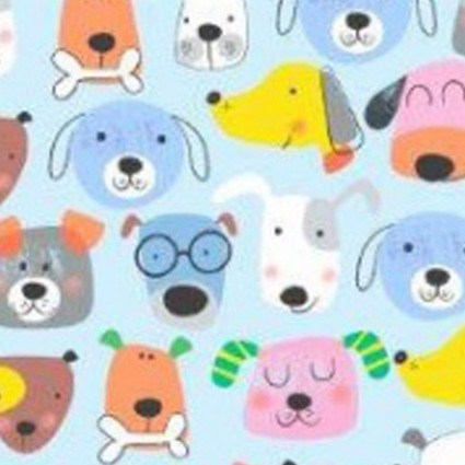 Comfy Flannel Prints - Blue Dogs
