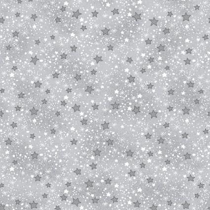 Comfy Flannel Prints Gray Stars