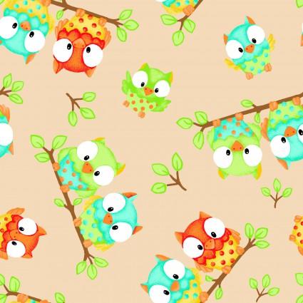 Comfy Flannel Prints -NATCFPN0862-44 - Little Owls